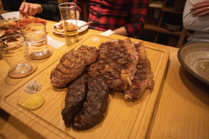 A huge meat platter, perfect to share