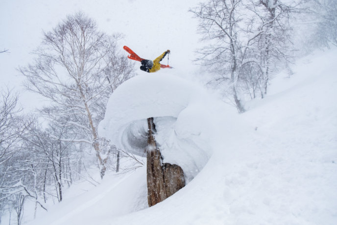 Winter Back Flip Ski