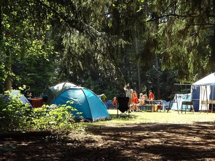 Camp site summer pixabay stock image