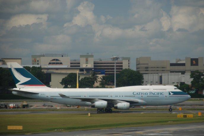 Cathay Pacific Boeing 747 400 B Huj