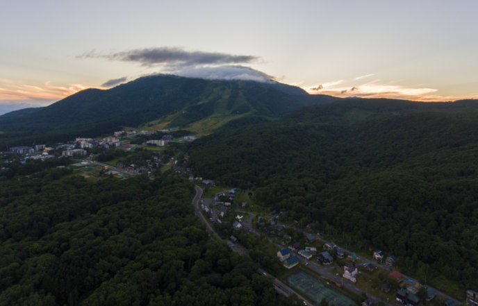 Hidde Hageman Drone Shot Of Hirafu In Summer