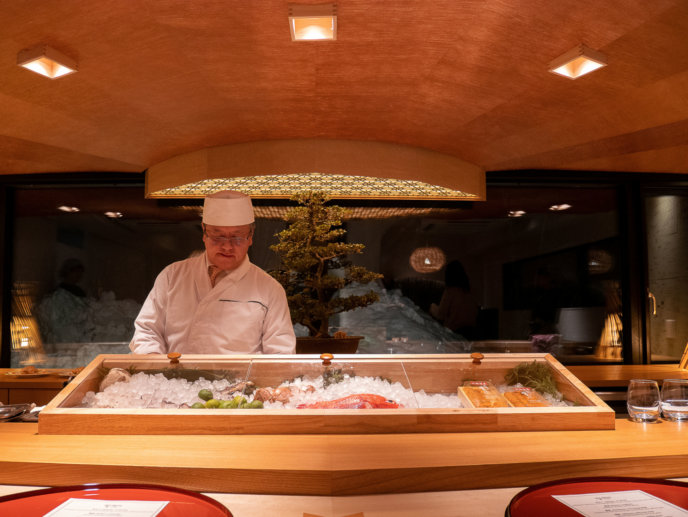 Kani Sushi Kato Counter02