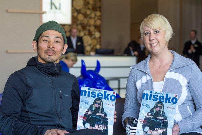 Korrin And Tatsumi In The Ki Niseko Lobby 1