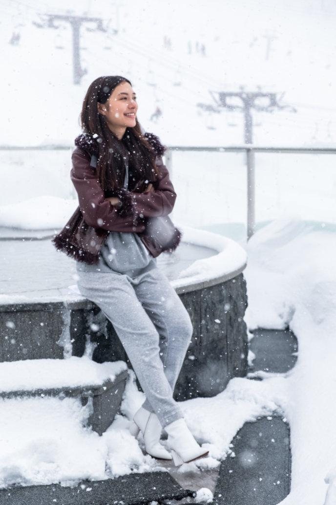 Mew Nittha With Snow Flakes