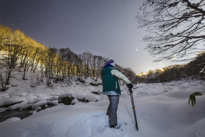 Nac Snowshoeing Niseko Night Time Snowshoe