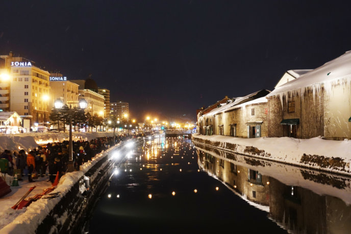 Otaru Snow Light Path 2017 Canal View