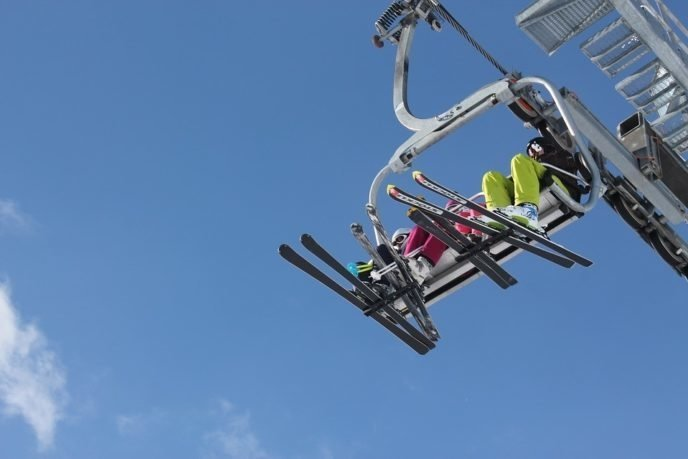 Pixabay Skiers On Chair Llift
