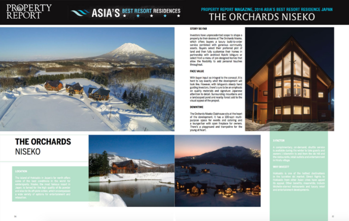 Property Report Marketing Best Asia Resort Residence The Orchards Niseko Spread