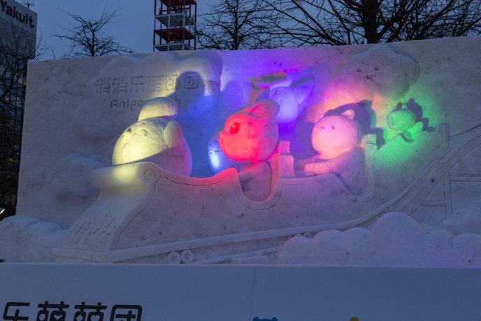 Snow Festival Sapporo Anipop Sculpture 1 20170206 0124