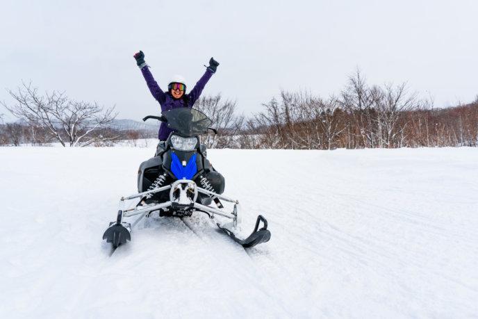 18. Go snowmobiling