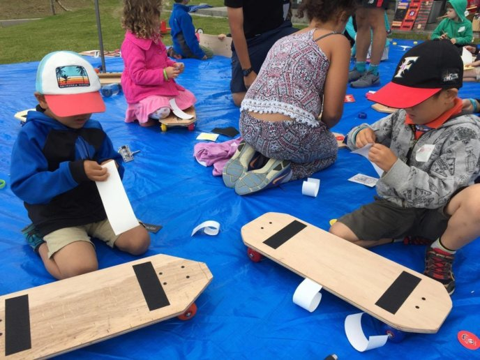 Yukos Boys Making Skateboards At Ed Venture