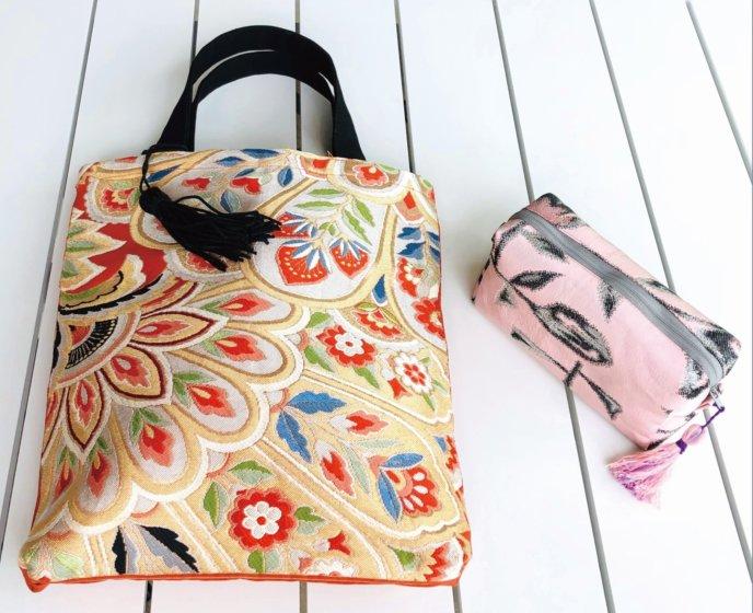 Kimono Bags at the Tomoko Miyazaki Exhibition