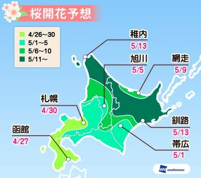 Cherry Blossom Prediction 2019 Hokkaido