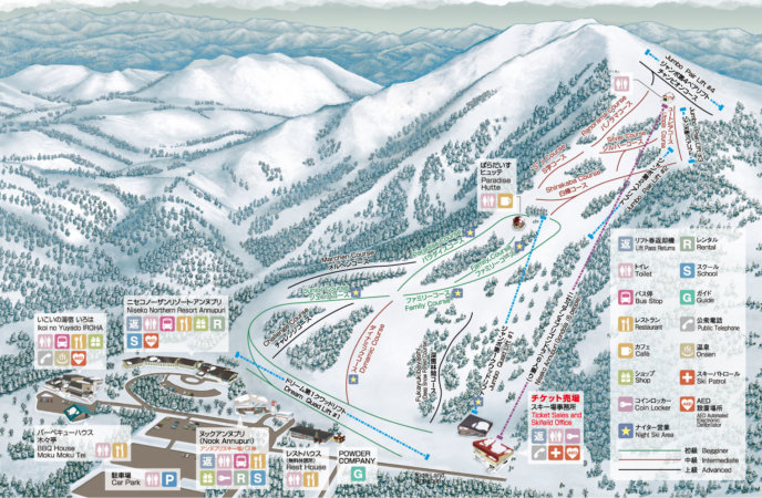 English Contents Map Trans Annupuri International Ski Resort 2017