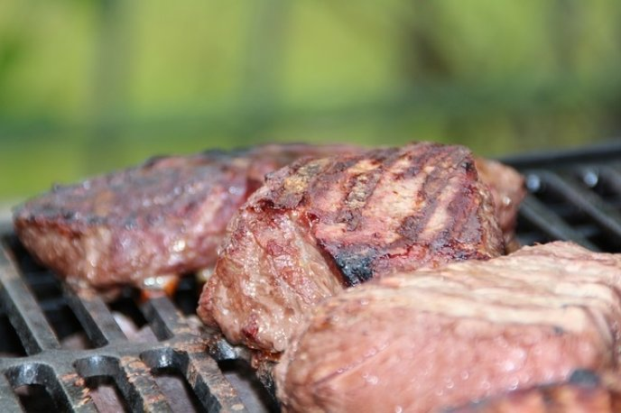 grilled steak on a bbq barbecue pixabay stock image