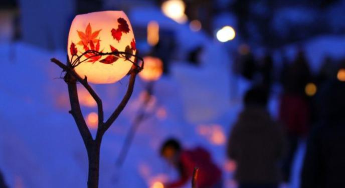Otaru Snow Light Path Crop