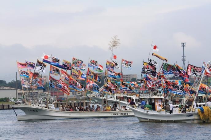 Iwanai Reitosai Festival Boat Fleet Koichi Matsuda Photo