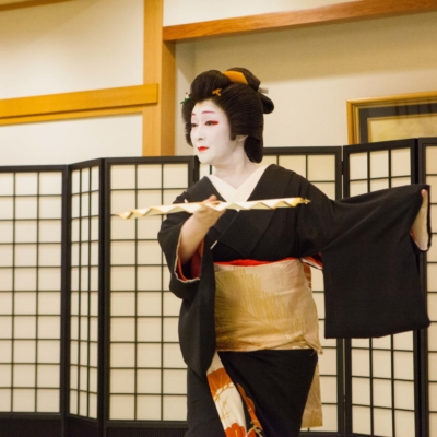 Geisha performing.