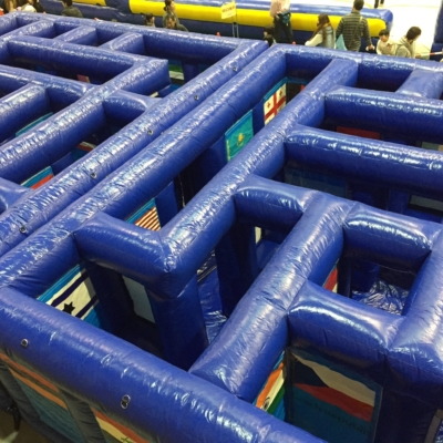 Get lost in the inflatable maze.