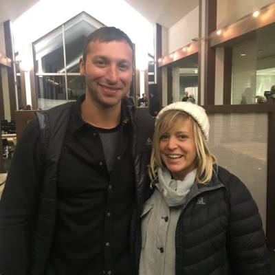 Ian Thorpe and Jenny Jones