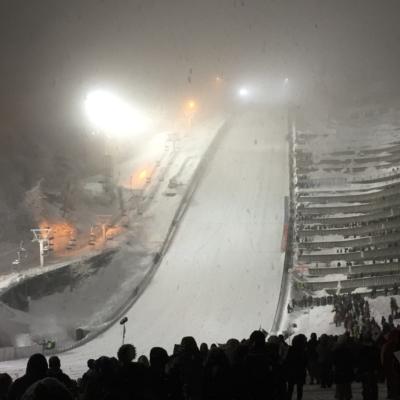 2017-Sapporo-Winter-asian-games-ski jump venue at night