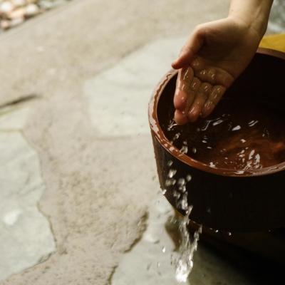 Akahane Onsen Water Bucket