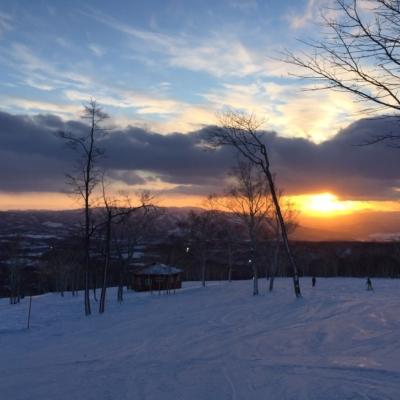 Niseko Annupuri International Ski Resort Winter Season 11 Ski Area Sun Setting Sunset 2016