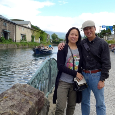 Tsung Chung Kao In Otaru With His Daughter