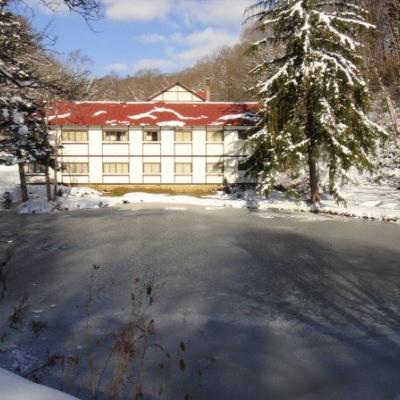 Koikawa Ryokan Onsen Winter Exterior