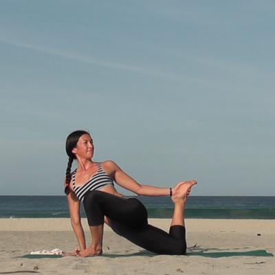 Kanami Anderson Powder Yoga At The Beach