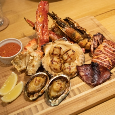 A fine selection of local seafood