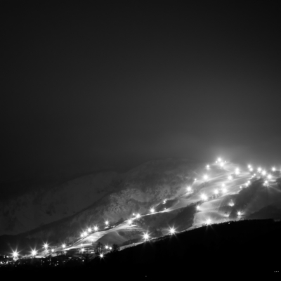 Hirafu Resort Night Skiing Bw 3