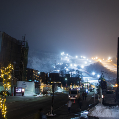 Hirafu Village Night Skiing 2