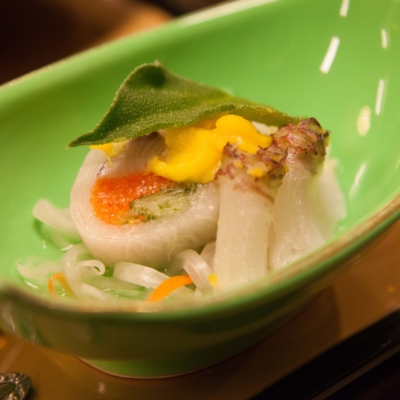 Japanese cuisine served.