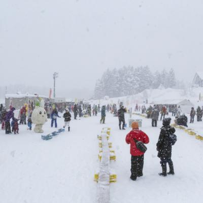 Kutchan Town Yukitopia 2017 Crowds Despite The Snow