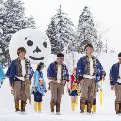 Kutchan Town Yukitopia 2017 University Student Yosakoi Soran Performance