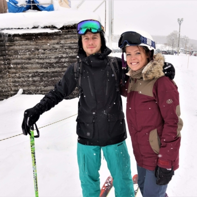 London couple enjoy first time in Niseko.