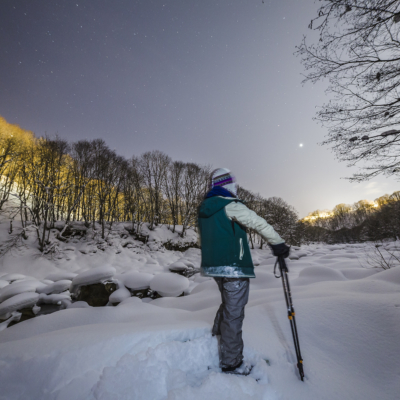Nac Snowshoeing Niseko Night Time Snowshoe