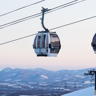 Night Skiing Sunset Gondola