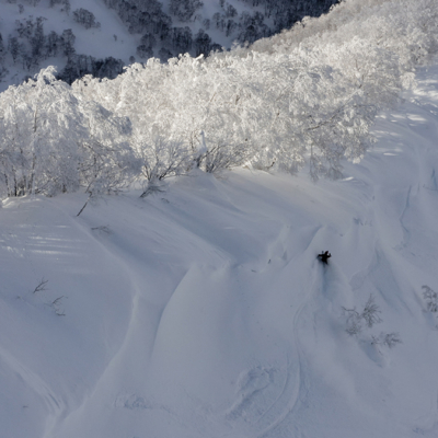 Steep and deep in the Hokkaido backcountry