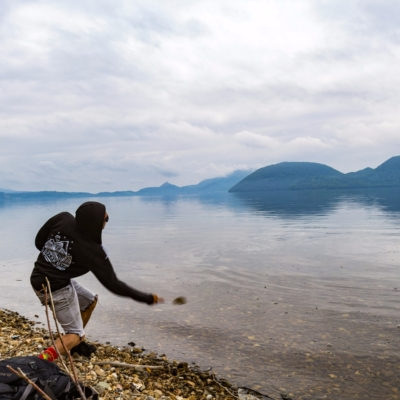 Rhythm Bike Tour At Lake Toya Summer 2017 31 Skipping Stones Rocks On The Lake