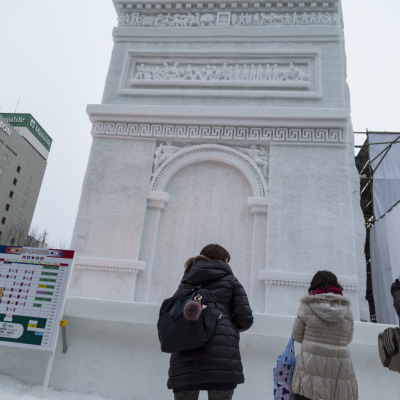 Snow Festival Sapporo The Arc De Triomphe 2017 02 06 0142