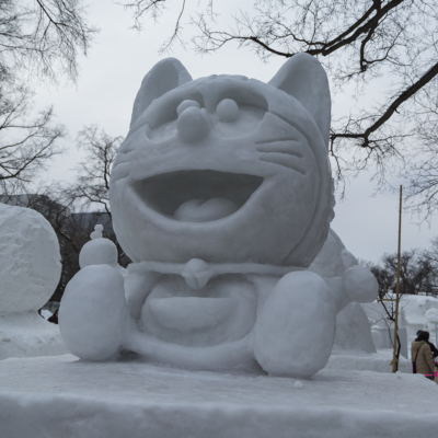 Snow Festival Sapporo Community Section Doraemon 2017 02 06 0147