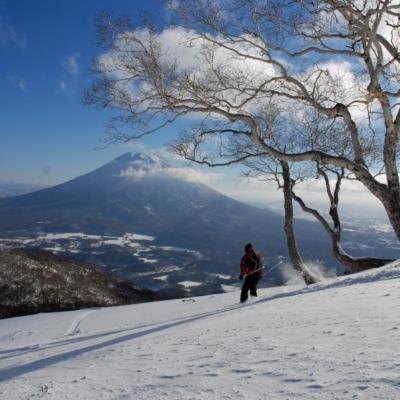 春スキーと羊蹄山