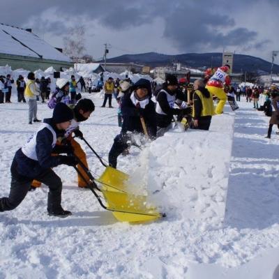 小樽雪かき選手権に参加