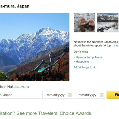 Trip Advisor Top 10 Japan Destinations Hakuba Village