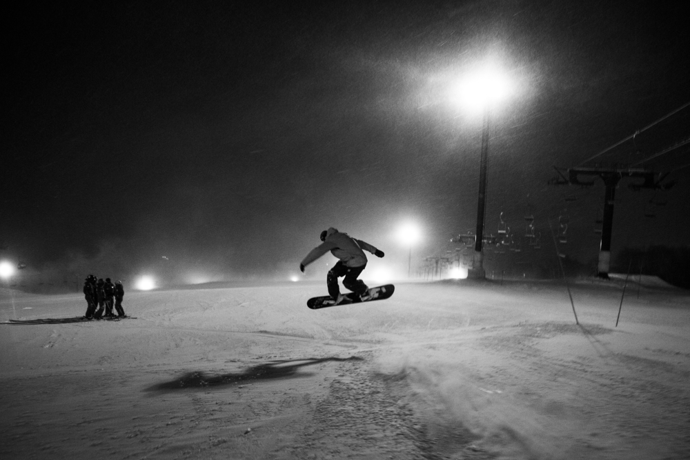 Image result for Snowboarding night