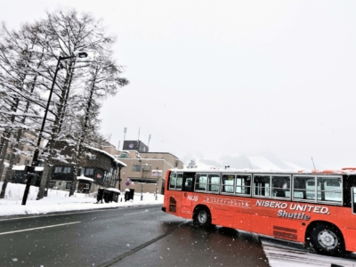 Niseko United Shuttle Bus in action