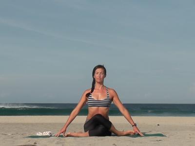 Kanami Anderson Powder Yoga Waves At The Beach