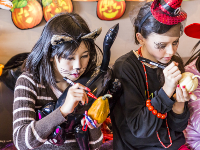 Kids In Costume At Halloween Family Event 2016
